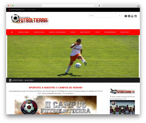 Best WordPress theme GoalKlub - futboldetierra.com