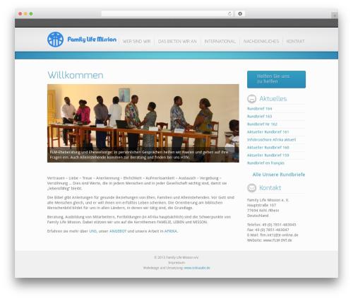 Best WordPress theme Inspire - flm-int.de
