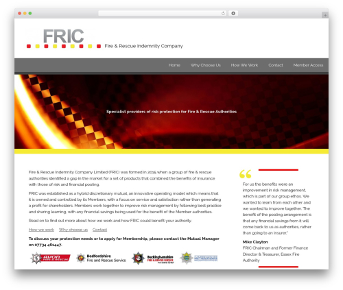 Best WordPress theme Smartline Lite - fric.org.uk