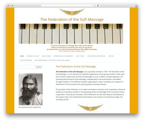 Best WordPress theme Twenty Twelve Child - federationsufimessage.org