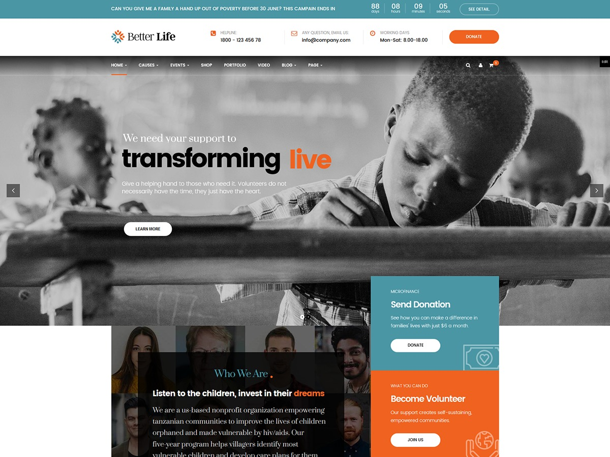 Betterlife WordPress video theme
