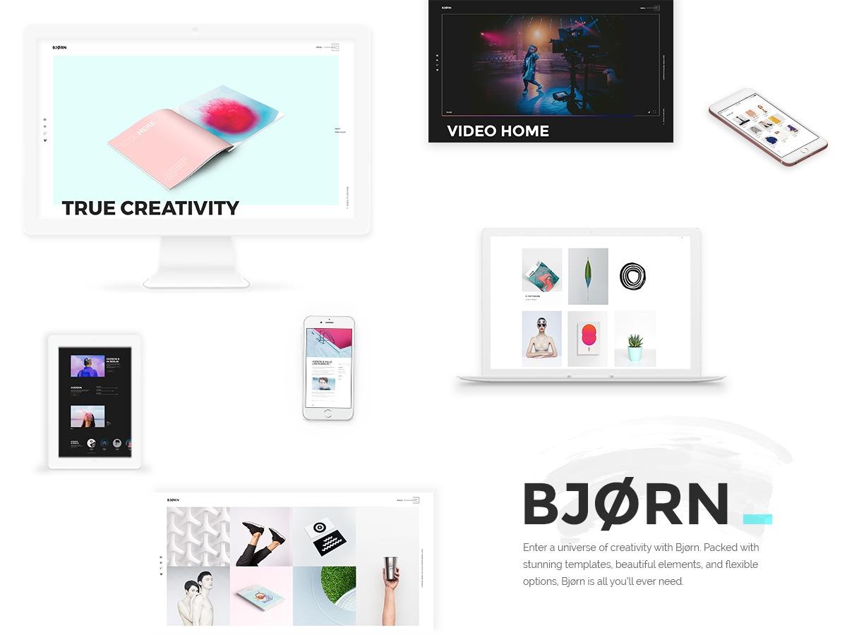 Bjorn WordPress blog theme