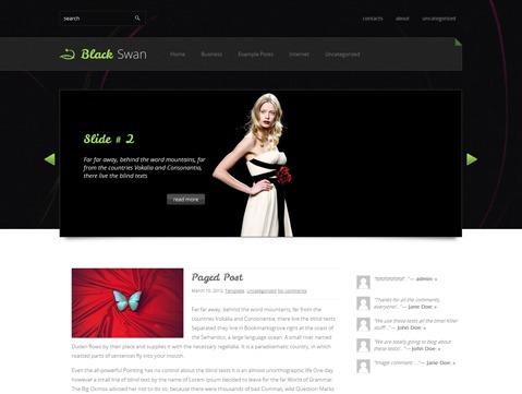 BlackSwan theme WordPress