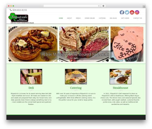 Brasserie Pro WordPress page template - fitzpatricksdeli.com