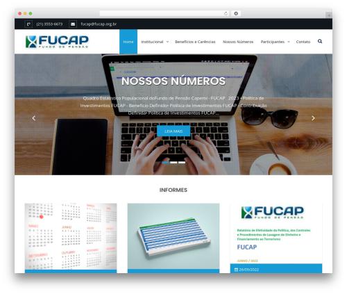 Business Club WordPress theme - fucap.org.br