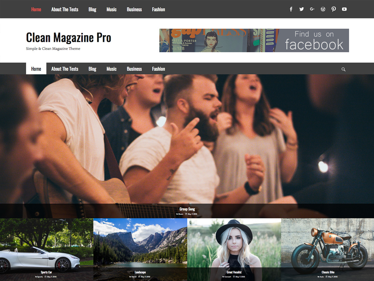 Clean Magazine Pro WordPress news template