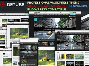 deTube Themekiller.com WordPress news template