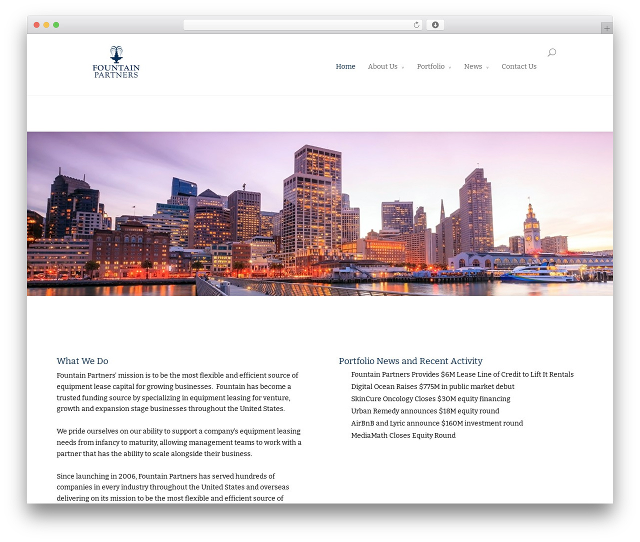 Divi WordPress template - fountainpartners.com