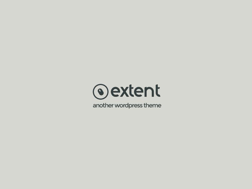 Extent personal blog WordPress theme
