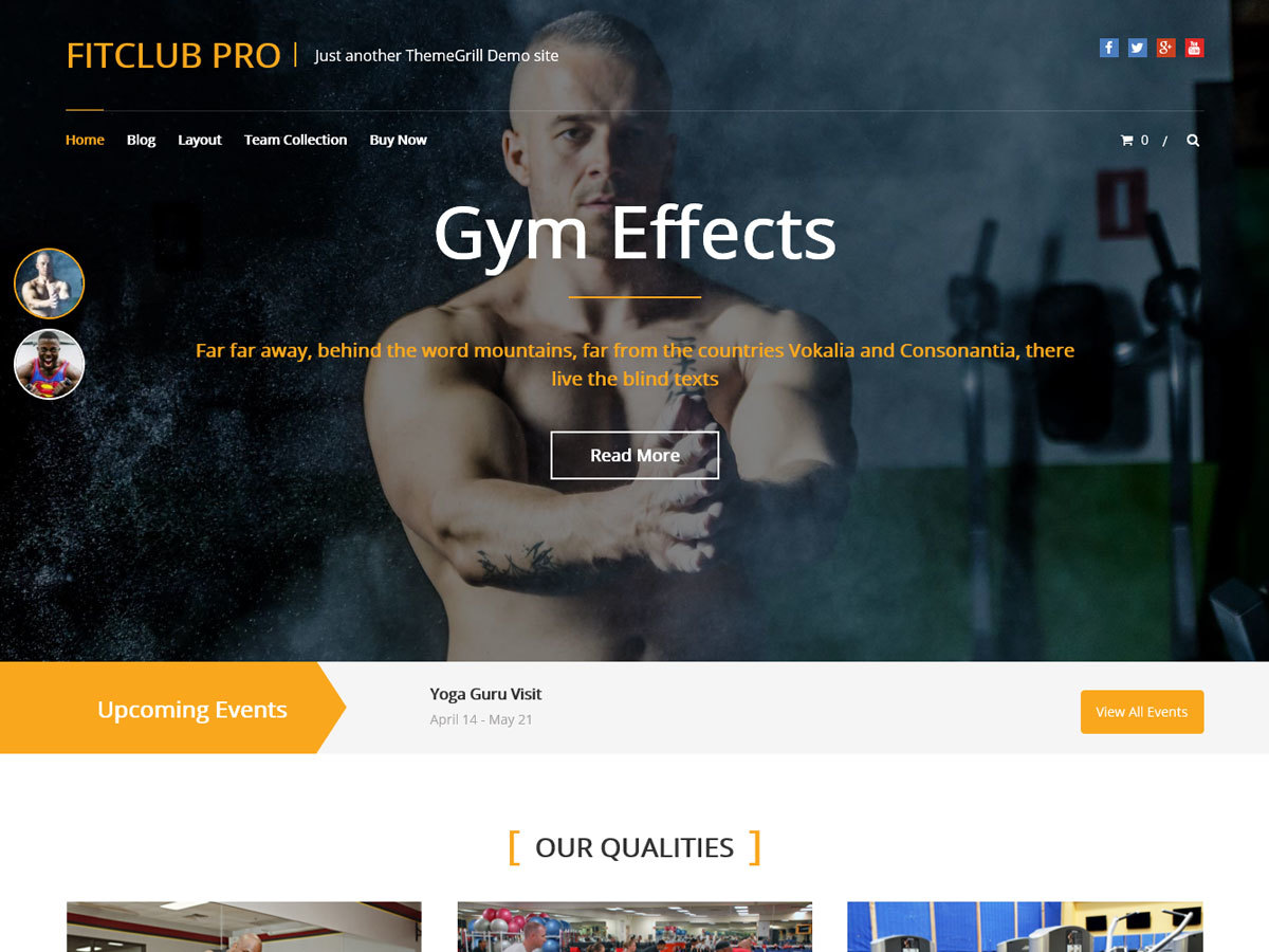 FitClub Pro fitness WordPress theme