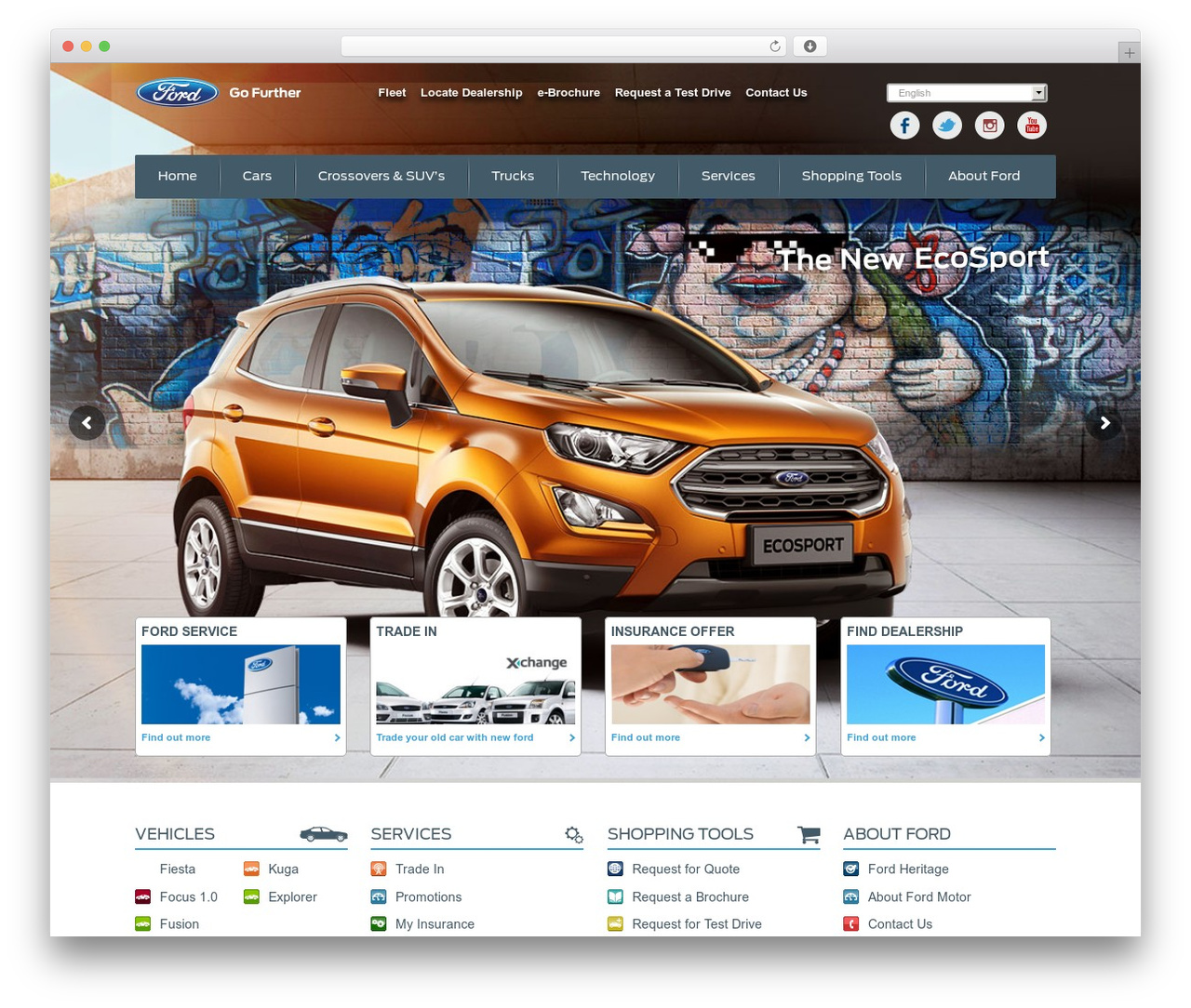 Ford-Egypt WordPress template - fordegypt.com