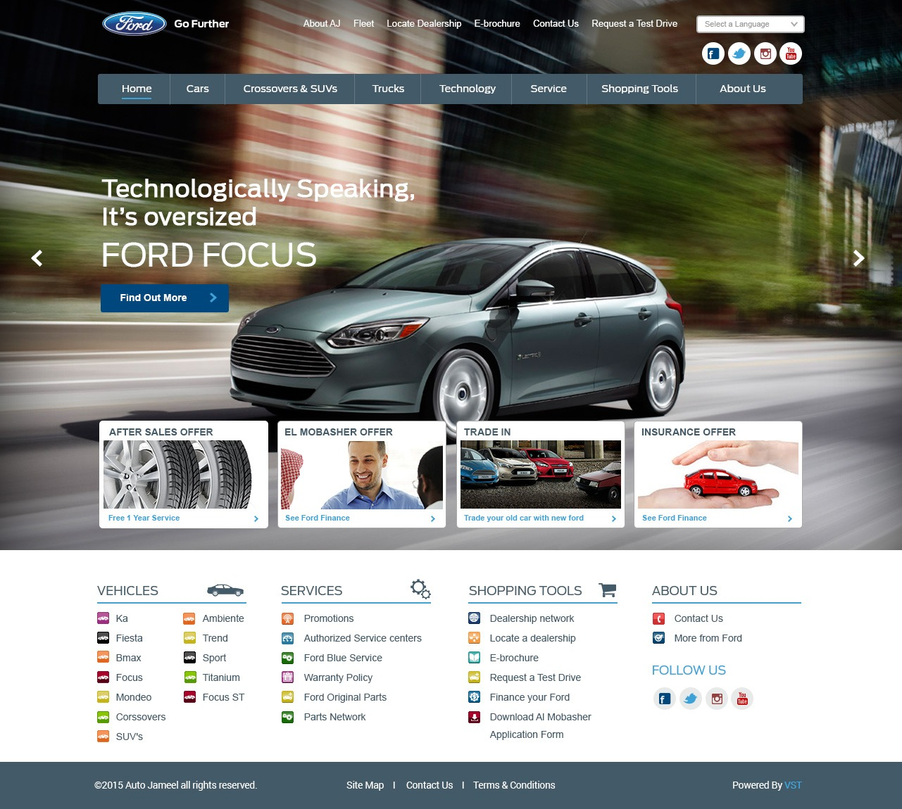 Ford-Egypt WordPress theme design