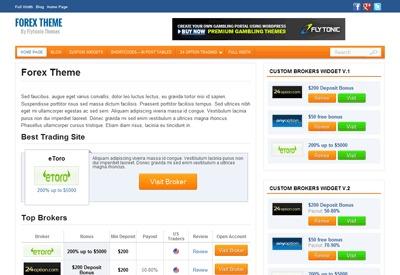 Forex Theme by Flytonic.com WordPress theme