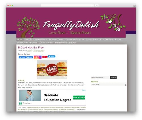 Genesis WordPress website template - frugallydelish.com