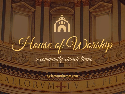 House of Worship Wordpress Theme WordPress theme