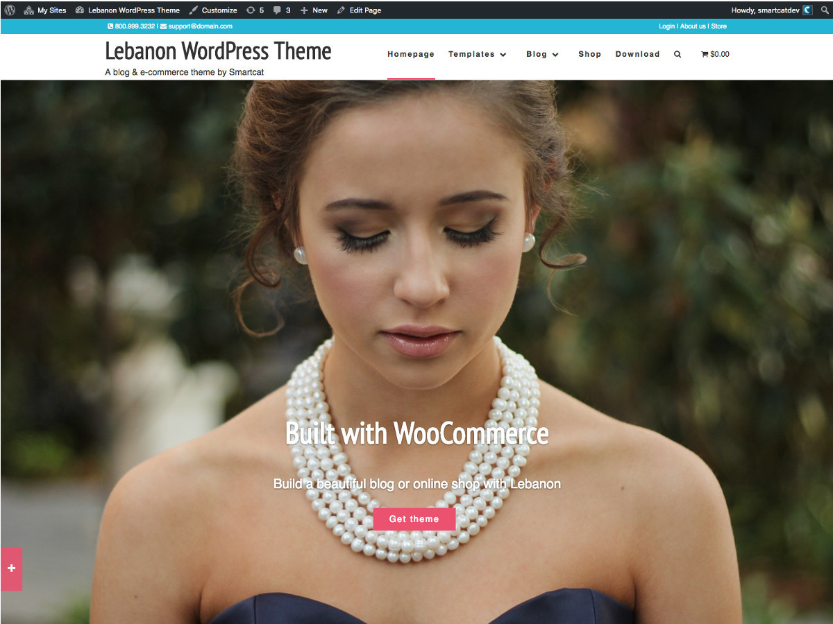 Lebanon WordPress gallery theme