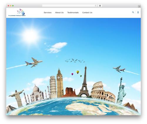 Progressive Wordpress Theme WordPress travel theme - flamingoworldways.com