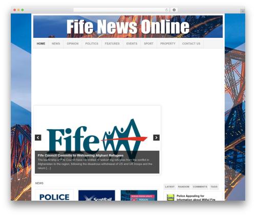 Project AR2 newspaper WordPress theme - fifenewsonline.co.uk