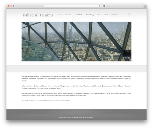 Reflection business WordPress theme - fahadaltamimi.com