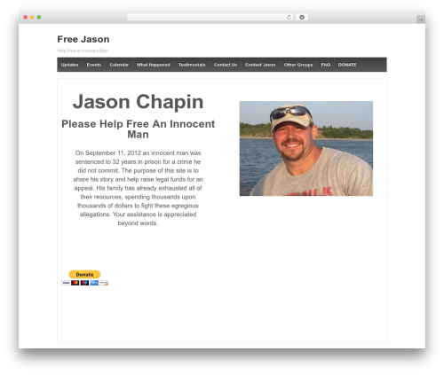 Responsive best WordPress template - freejason.org