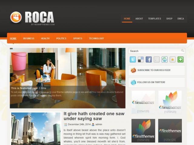 Roca WordPress blog theme