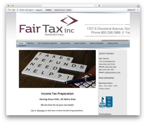 Theme WordPress Customized - fairtaxinc.com