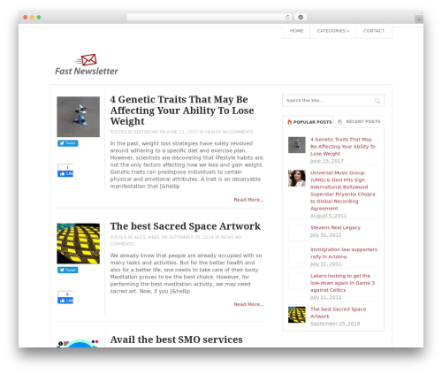 Top WordPress magazine theme - fastnewsletter.com