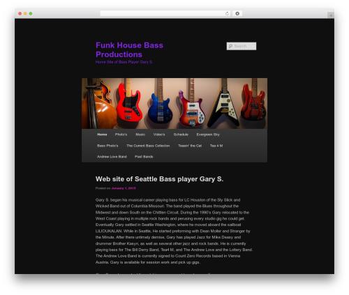 Twenty Eleven free WP theme - funkhousebass.com