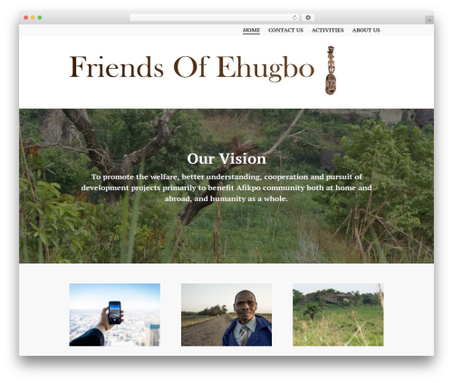 WordPress theme Edin - friendsofehugbo.org