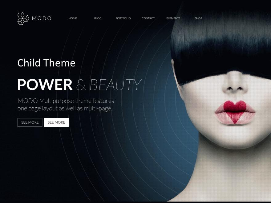 WordPress theme Modo Child