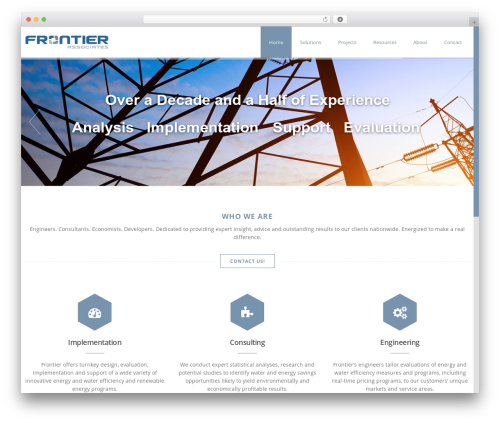 WordPress website template Advertica - frontierassoc.com