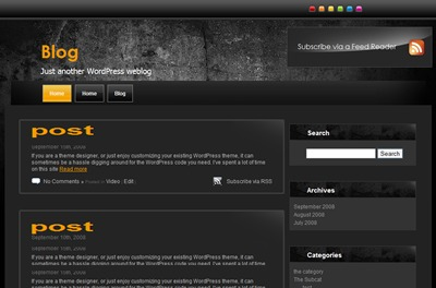 WordPress website template Grunge Wall