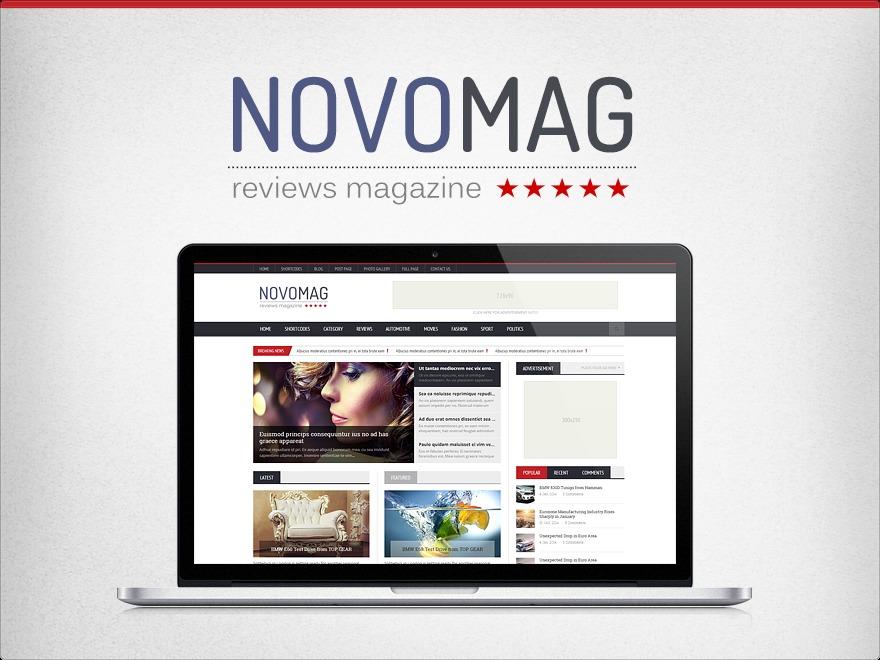 WP template Novomag Theme