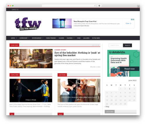 WP template Novomag Theme - freeweekly.com