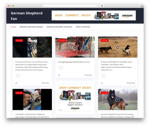 WP theme Addictive Site Builder - germanshepherdfan.com
