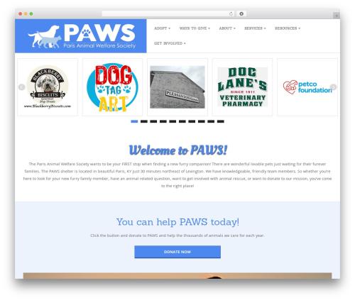 Best WordPress theme Responsive Brix Child - pawspets.org