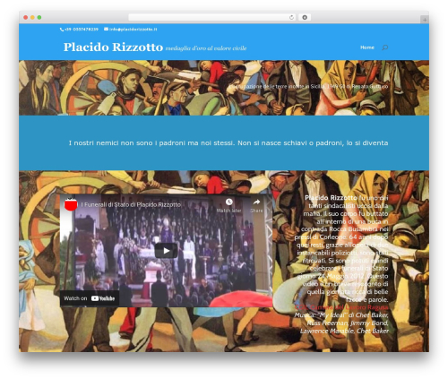 Divi WP theme - placidorizzotto.it