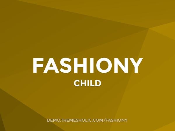 Fashiony Theme Child WordPress blog template