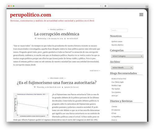 Flask best WordPress theme - perupolitico.com