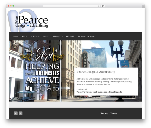 Motif template WordPress - pearceadvertising.com