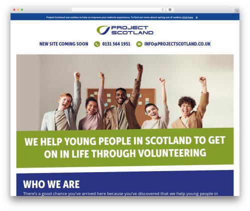 Project Scotland WordPress theme - projectscotland.co.uk