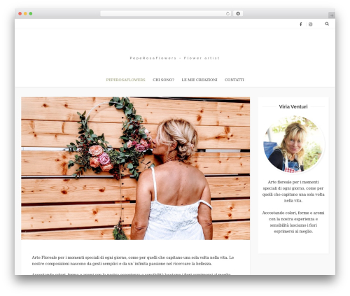WordPress theme azumi - peperosaflowers.it