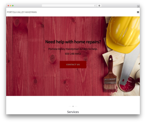 WordPress theme Pixova Lite - portolavalleyhandyman.com