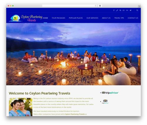 Adventure Tours WordPress travel theme - ceylonpearlwingtravels.com