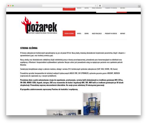 Avrora business WordPress theme - pozarek.pl