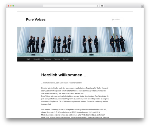 Best WordPress theme Twenty Eleven - pure-voices.at