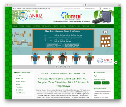 IndoStore WordPress page template - pcstation.co.id