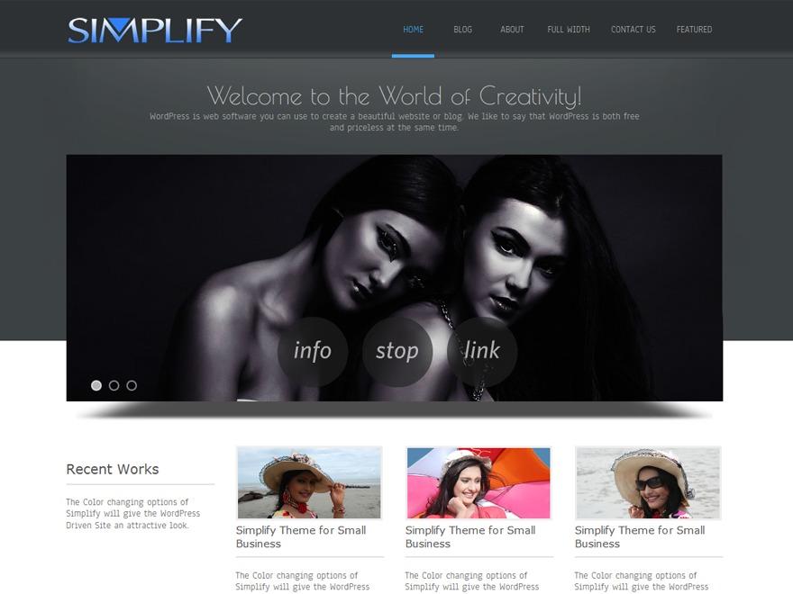 Simplify Custom company WordPress theme