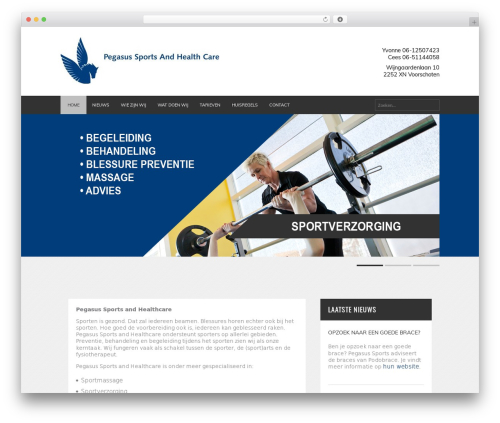 Template WordPress FITNESS-WP - pegasus-sports.nl