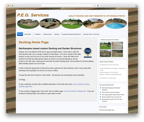 Template WordPress Suffusion - pegdecking.co.uk